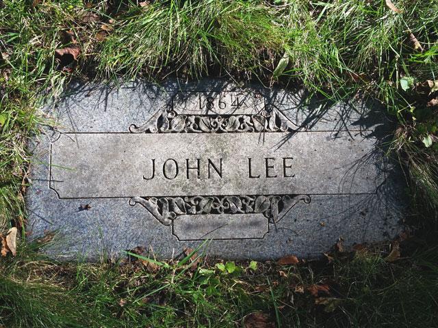 The grave of John