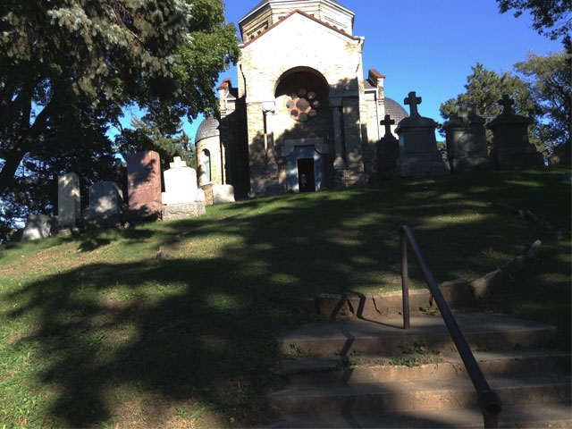 Calvary Cemetery chapel in Milwaukee