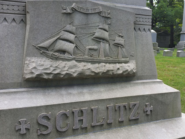 The cenotaph of Milwaukee beer baron Joseph Schlitz