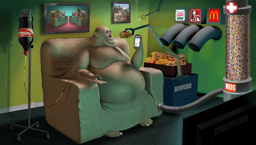 Our backwards society displayed in these powerful art illustrations 194