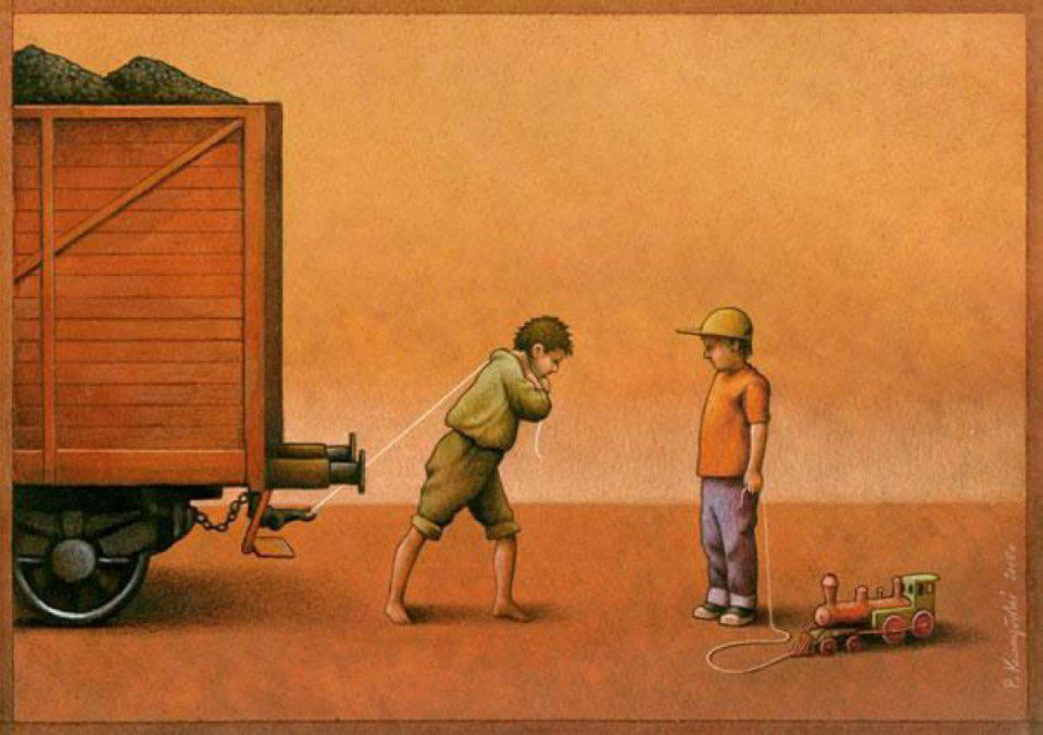 Our backwards society displayed in these powerful art illustrations 189