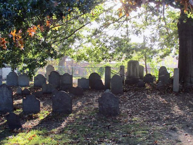 Old Burying Point Cemetery in Salem