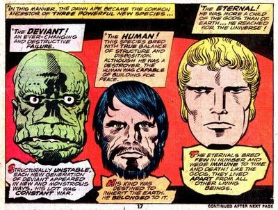 Avengers, Transformers ('shape shifters') and the Eternals 1