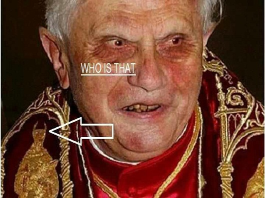The Pope and the Devil on his shoulder 1