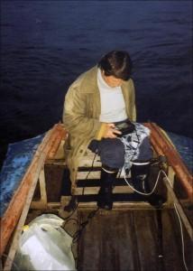 lyudmila on the boat