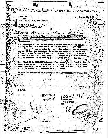 FBI releases Roswell memo about three bodies of human shape 42