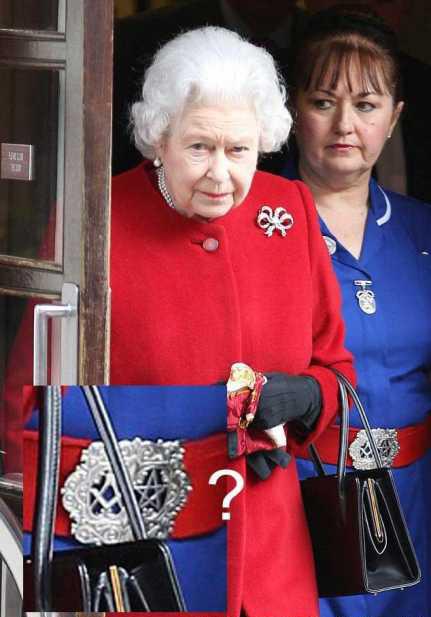 Queen's Nurse's Belt Buckle: A pentagram and a Freemason compass 1