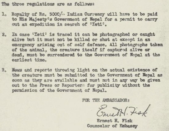 The U.S. Government's 1959 Memo On Yeti Encounters 41