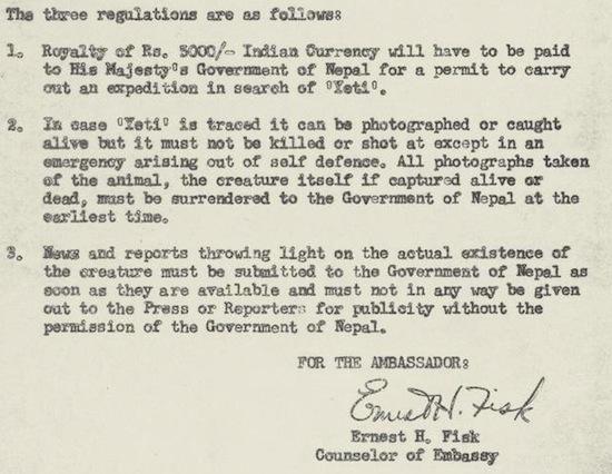 The U.S. Government's 1959 Memo On Yeti Encounters 46