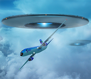 Pilots spot UFOs over UK Scientology base 95