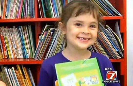 Girl, 5, reads 875 books in a year; library can't keep up 24