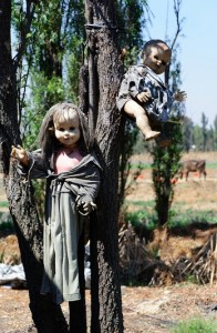 Creepy creatures at the Island of Dolls