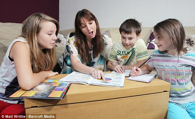 Believers: Mrs Billington, who home schools the children, says she has done nothing to encourage their psychic ability