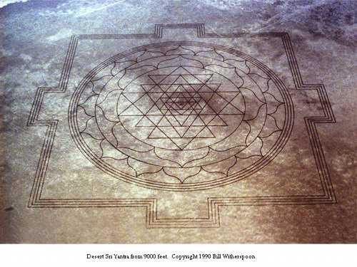 Gigantic Sri Yantra Mantra appears in Oregon dry lake bed 17