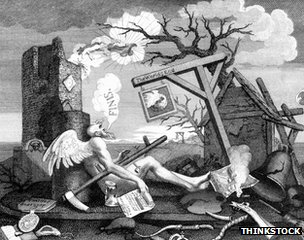 William Hogarth's The End of the World, c.1760