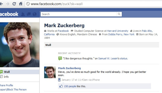 Mark Zuckerberg's Facebook page hacked 1