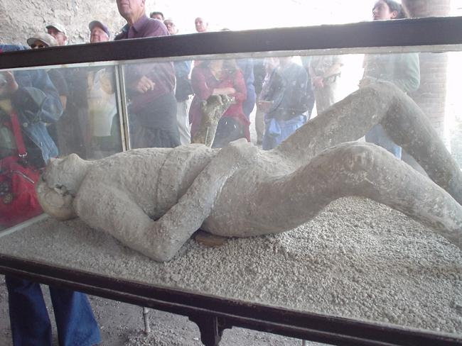 Hundreds of plaster casts were made of the victims. Picture: Lyng883 Flickr
