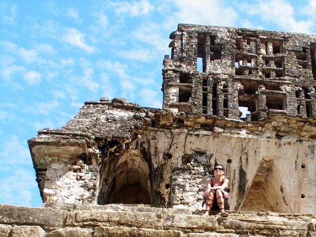 On top of the world at Palenque. Picture: Darij and Ana Flickr