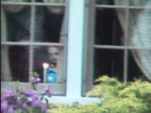 Ghostly Face Appears In Window 93
