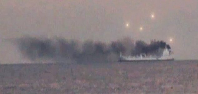 UFOs spotted hovering over a smoking ship 86