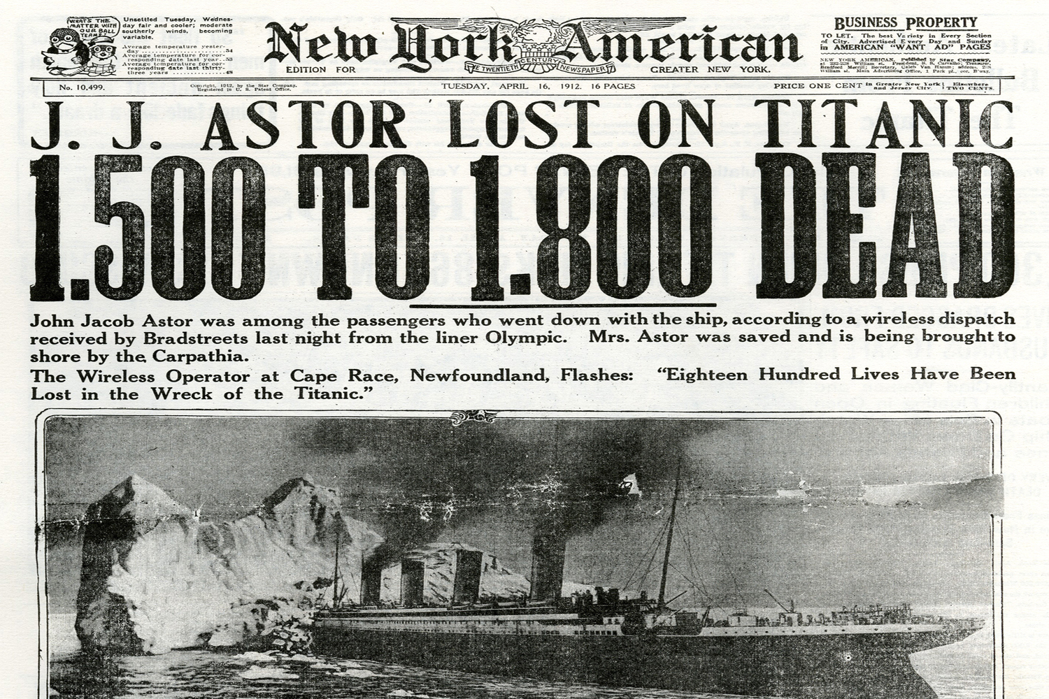 The sinking of the Titanic led to the creation of the U.S. Federal Reserve 9