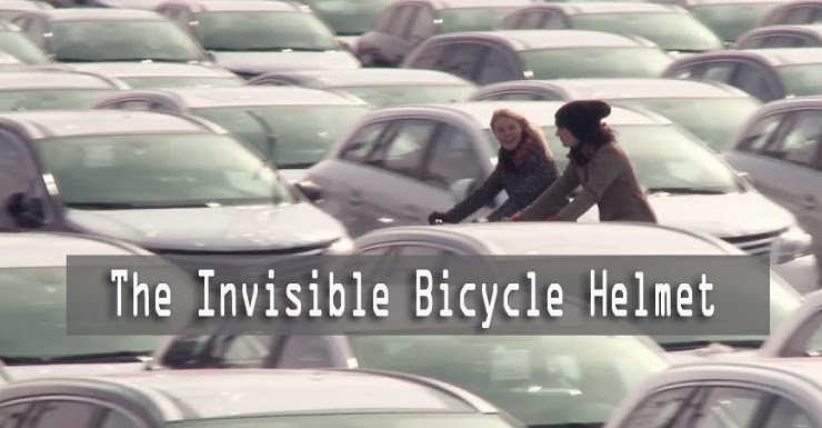 These girls created an invisible bike helmet 1