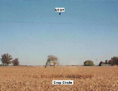 Canadian crop circle resembles UFO seen hours before 86