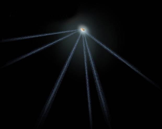 Astronomers spot strange six-tailed asteroid 88