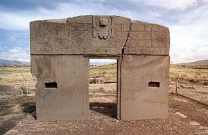 The ancient Calender of Tiahuanaca in Bolivia tells of a time when our moon wasn't there.