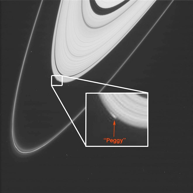 NASA's Cassini spacecraft has spotted an object located right at the edge of Saturn's ring 100