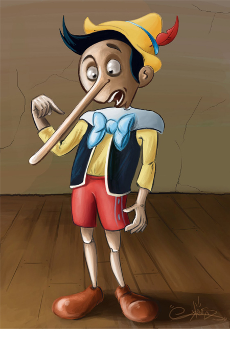 The Pinocchio Paradox: What if Pinocchio said, 'My nose grows now.'?
