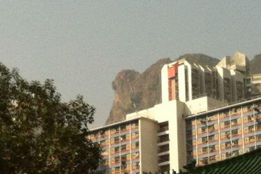 Lion Rock's eye 'glows red' in Hong Kong 8