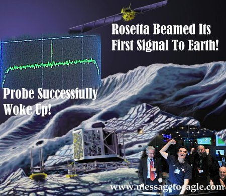 Rosetta Beamed Its First Signal To Earth: The Probe Successfully Woke Up From Long Deep Space Hibernation! 12