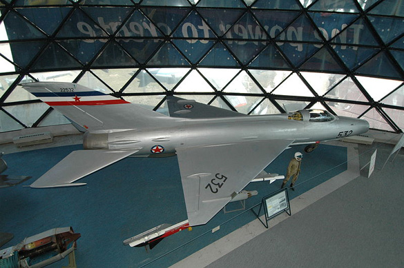 Yugoslavian Air Force MiG-21/F-13 at the Belgade Aviation Museum. (Credit: Belgade Aviation Museum)
