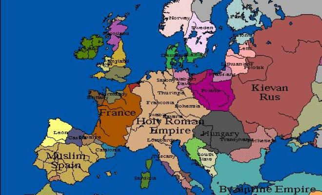 Watch as 1000 years of European borders change 1
