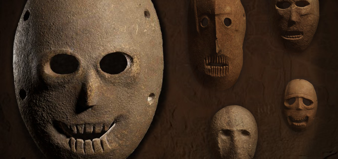 World's oldest 'spirit' masks: 9,000-year-old neolithic stone 'portraits of the dead' 3