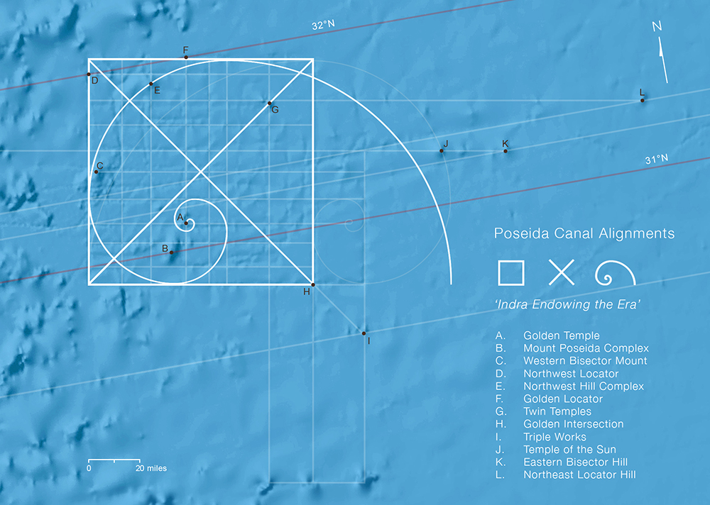 Fibonacci Alignments —Azores Pyramid Submerged City of Poseida 30