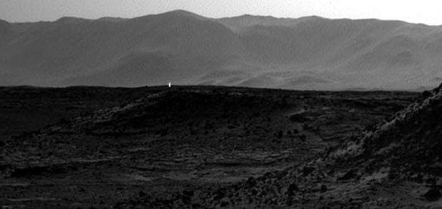 Rover photographs mystery light on Mars 34