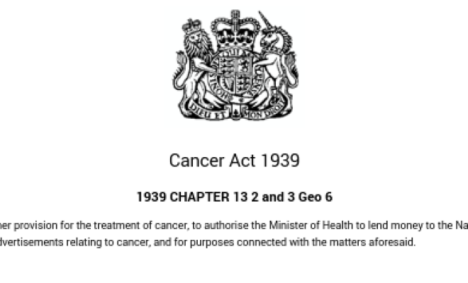 Did you know about the CANCER ACT 1939? 86