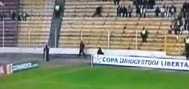 'Ghost' runs through crowd at football game 1