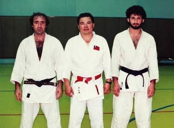 Osama Bin Laden after practicing judo