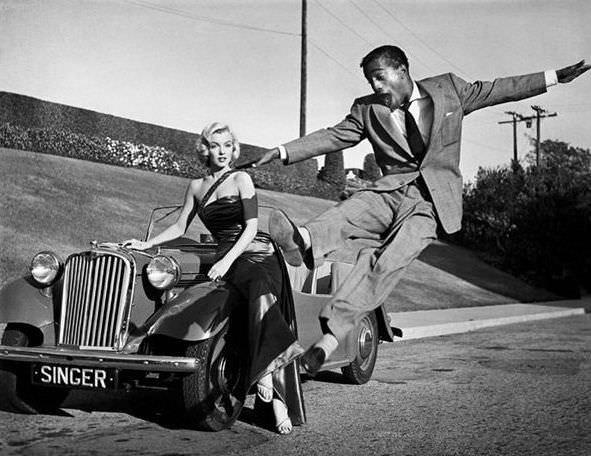 Marilyn Monroe and Sammy Davis, Jr.