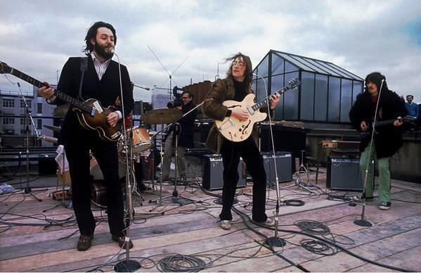 Last concert of Beatles on a London rooftop - 1969