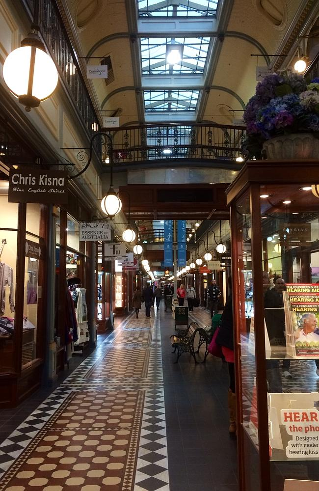 Adelaide Arcade had some shoppers walking its floors on Friday, but no ghosts were in sig