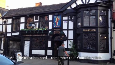 Watch moment 'ghost' reveals itself in the window of Britain's 'most haunted' pub 3