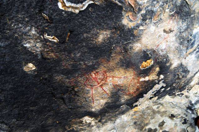 10,000-year-old rock paintings depicting aliens and UFOs found in Chhattisgarh 91
