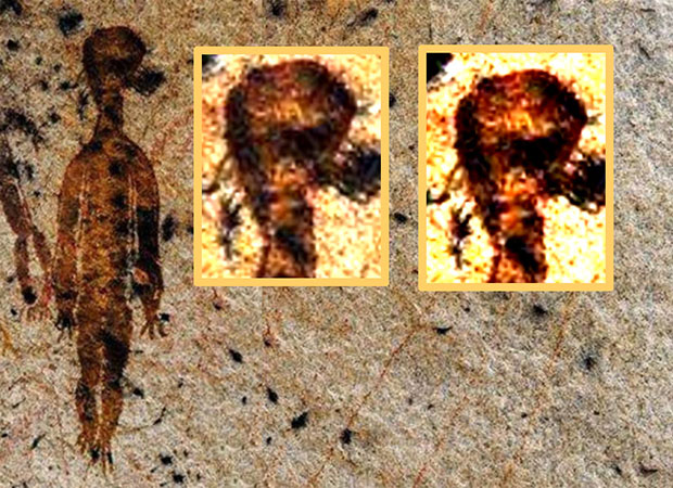 10,000-year-old rock paintings depicting aliens and UFOs found in Chhattisgarh 90