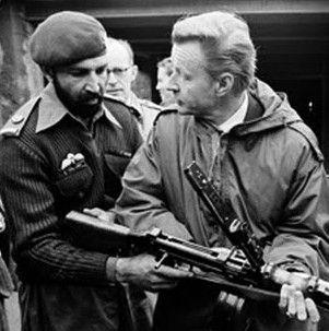 Osama Bin Laden (Tim Osman) with Zbigniew Brzezinski