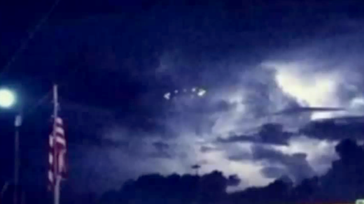 UFOs spotted during rain storm in Houston, Texas? 8