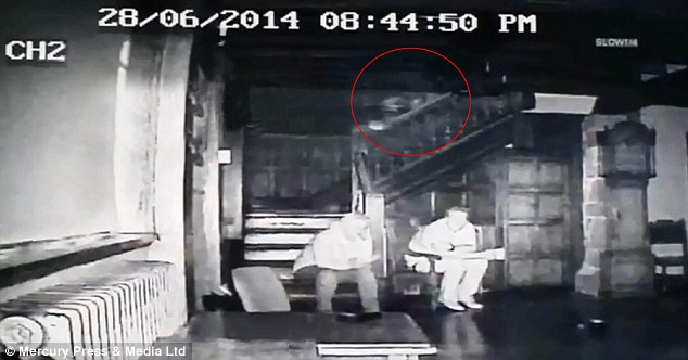 The team from Sefton Paranormal Investigators noticed the activity as they watched back the footage after the investigation, which took place on June 28